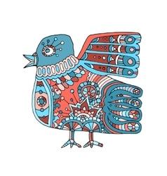 ethnic totem bird vector image vector image