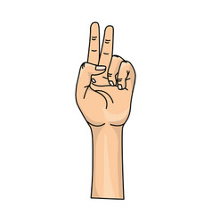 Hand with middle finger and fingerprint up symbol vector