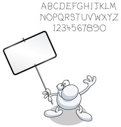 man with blank sign vector image vector image