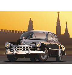 retro limousine vector image vector image