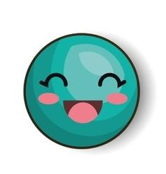 emoji smiling eyes blue design isolated vector image