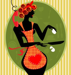 funny housewife vector image