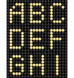 Light Bulb ABC 1 vector image