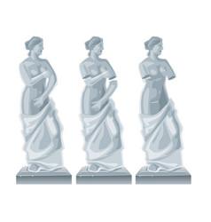 sculpture venus - goddess of love flat vector image