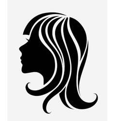 Silhouette of a young girl vector