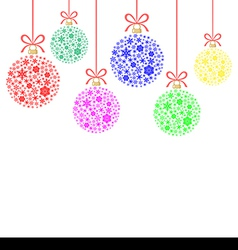 snow balls vector image vector image