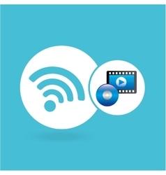 strip film video player online vector image