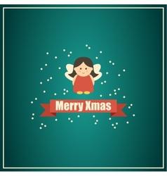 Christmas card with fairy vector image