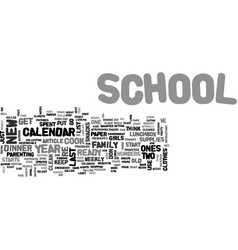 back to school strategies text word cloud concept vector image vector image