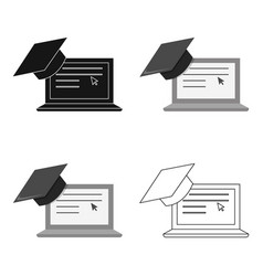 laptop icon cartoon single education icon from vector image vector image
