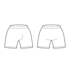 Shorts template for design Sample for Sports vector image