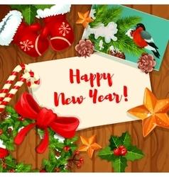 Wnter holiday greeting card design vector