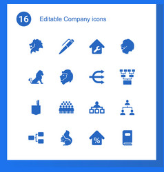 16 company icons vector