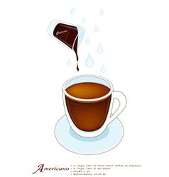 A Cup of Americano or Cafe Americano vector image