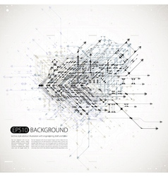 abstract background techno style vector image