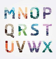 Alphabet modern color abstract style Design vector