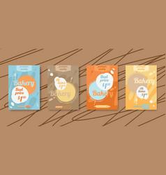 Bakery flyer discount cards sale online ticket vector