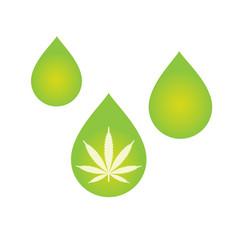 Cbd oil cannabis extract vector