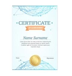 Certificate Vertical Template vector image