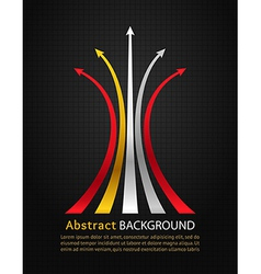 Colored arrows on black background vector image