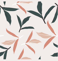 creative universal floral background vector image