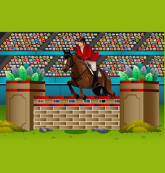 Equestrian in the competition vector