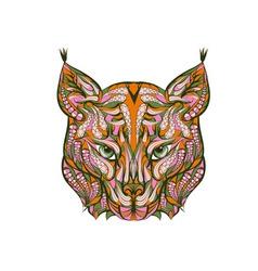 Ethnic lynx vector