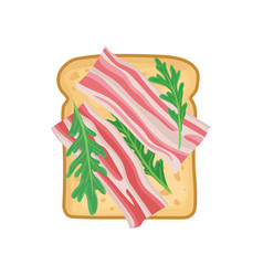 Flat icon of delicious sandwich for vector
