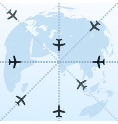 flight routes vector image