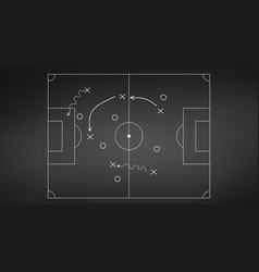 football or soccer game strategy plan isolated on vector image