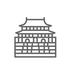 forbidden city china landmark line icon vector image