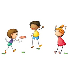 Frisby kids vector