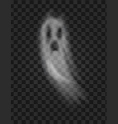 Ghost and scary poltergeist with sad face vector