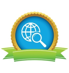 Gold world scan logo vector