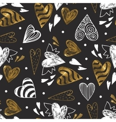 Golden seamless pattern with the image of tribal vector image