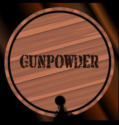 Gunpowder keg with powder trail vector