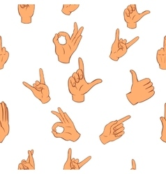 Hand pattern cartoon style vector image