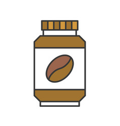 Instant coffee or coffee bottle icon flat design vector