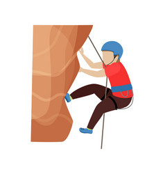 Kids climbing climber children character vector