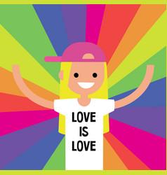 Lgbtq rainbow lgbt rights conceptual flat vector