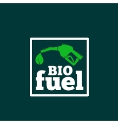 Logo or Sign Template Abstract Bio Fuel vector image