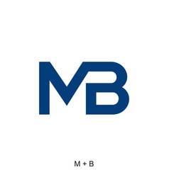 M and b letter vector