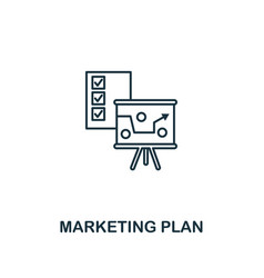 marketing plan icon thin line style symbol from vector image