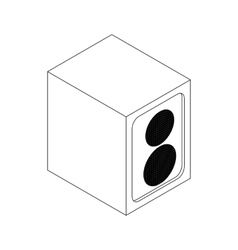 Music speaker icon isometric 3d style vector image