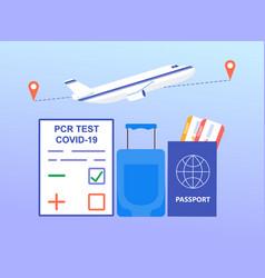 negative pcr test concept vector image