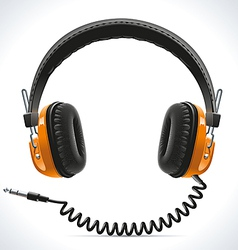 Old headphones vector