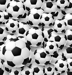Pattern made of football soccer ball vector image