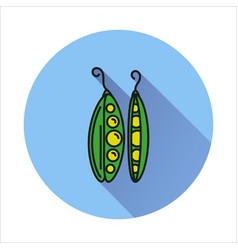 Peas simple icon on white background vector