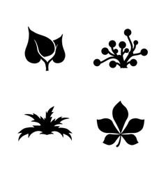 plant simple related icons vector image