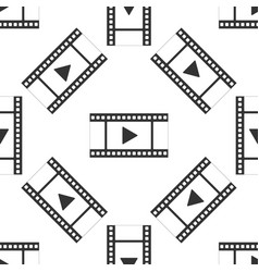 play video seamless pattern on white background vector image